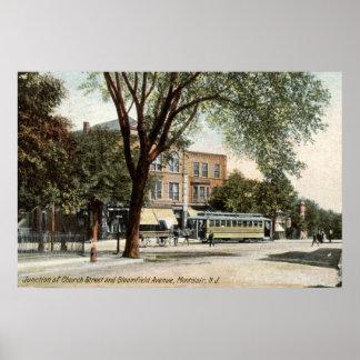 Montclair NJ 1908 Vintage Poster