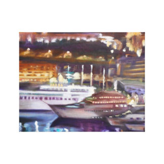 Monte Carlo at Night Wrapped Canvas