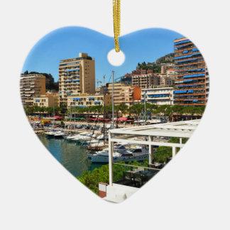 Monte Carlo in Monaco Ceramic Heart Decoration