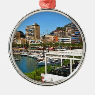 Monte Carlo in Monaco Silver-Colored Round Decoration