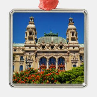 Monte  Carlo in Monaco Silver-Colored Square Decoration