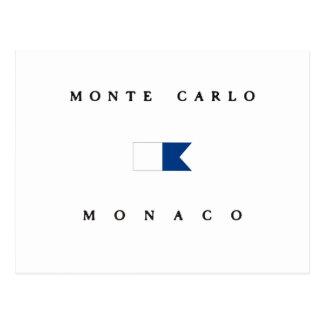 Monte Carlo Monaco Alpha Dive Flag Postcard