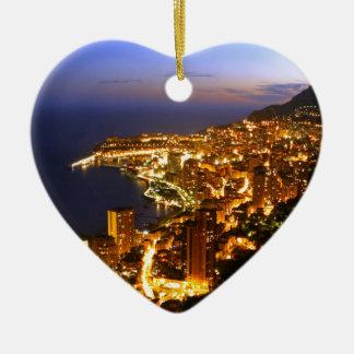 Monte Carlo, Monaco Ceramic Heart Decoration