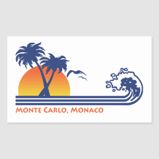 Monte Carlo Monaco Rectangular Sticker