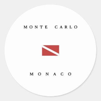 Monte Carlo Monaco Scuba Dive Flag Classic Round Sticker
