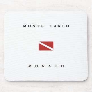 Monte Carlo Monaco Scuba Dive Flag Mouse Pad