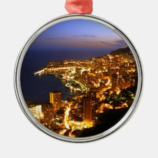 Monte Carlo, Monaco Silver-Colored Round Decoration