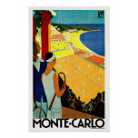 Monte Carlo Monaco Tennis Travel Art Poster