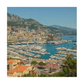 Monte Carlo Monaco Wood Print