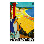Monte Carlo Vintage Travel Poster