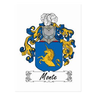 Monte Family Crest Postcard