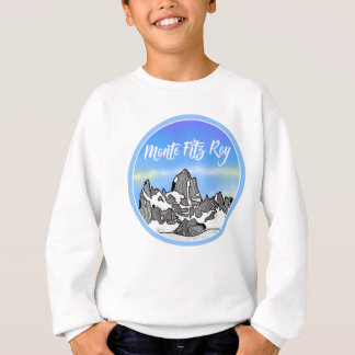 Monte Fitz Roy Mountain Illustration Sweatshirt