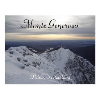 Monte Generoso, Ticino - Swiss Alps Postcard