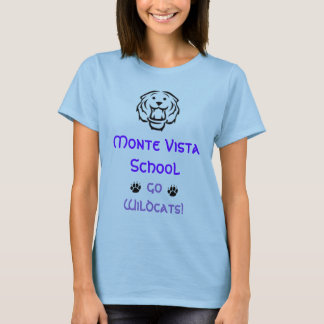 Monte Vista School, Go Wildcats! - Customized T-Shirt