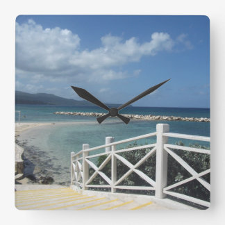 Montego Bay Beach, Jamaica Clock