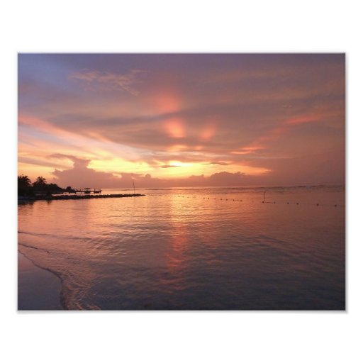 Montego Bay Jamaica Sunset Photo Print
