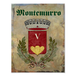 Montemurro Table Number Poster