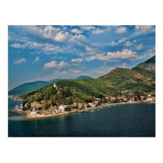 Montenegro - Coastline Near Kotor Postcard