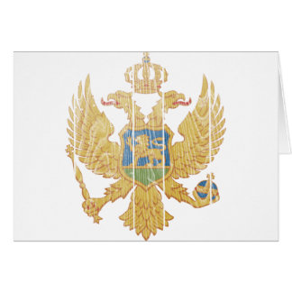 Montenegro Coat Of Arms Card