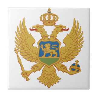 Montenegro Coat Of Arms Small Square Tile