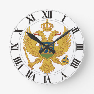 Montenegro Coat of Arms Wall Clocks