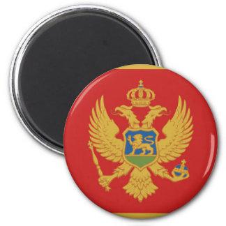 Montenegro country flag nation symbol 6 cm round magnet