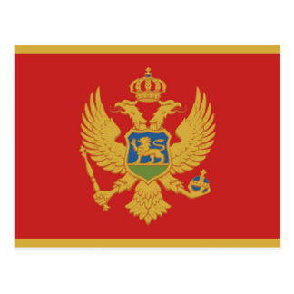 Montenegro country flag nation symbol postcard
