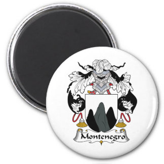 Montenegro Family Crest 6 Cm Round Magnet