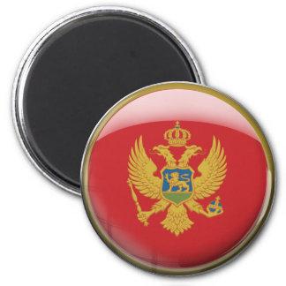 Montenegro Flag 6 Cm Round Magnet