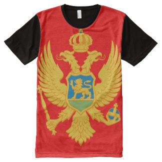 Montenegro Flag All-Over Print T-Shirt