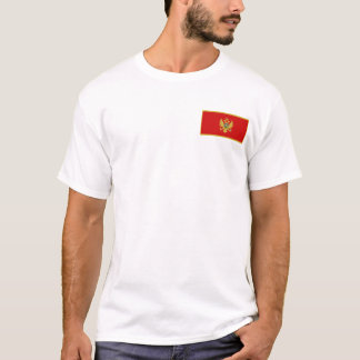 Montenegro Flag and Map T-Shirt