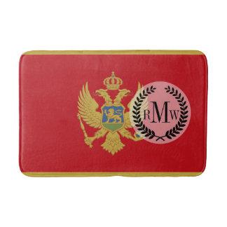 Montenegro flag bath mats