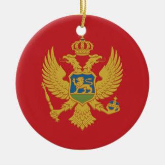 Montenegro Flag Ceramic Ornament