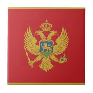 Montenegro Flag Ceramic Tile