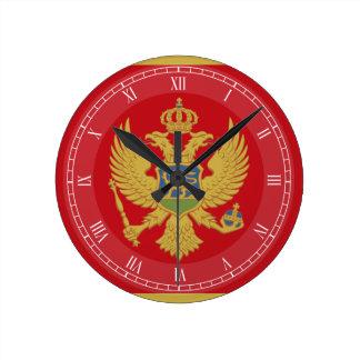 Montenegro flag clock