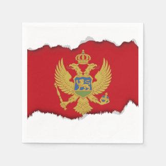 Montenegro flag disposable napkins