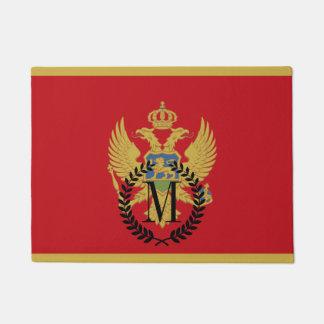 Montenegro flag doormat