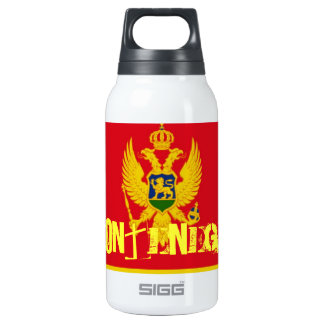 Montenegro flag insulated water bottle