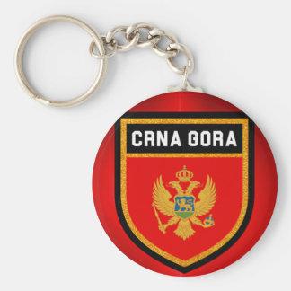 Montenegro Flag Key Ring