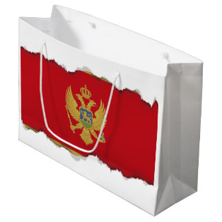 Montenegro flag large gift bag