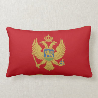 Montenegro flag lumbar pillow