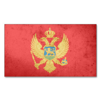 Montenegro Flag Magnetic Business Cards