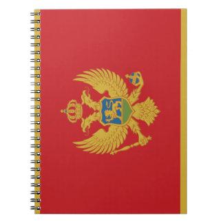Montenegro Flag Notebook