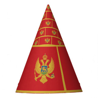 Montenegro Flag Party Hat