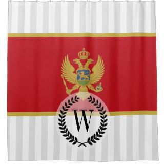 Montenegro flag shower curtain