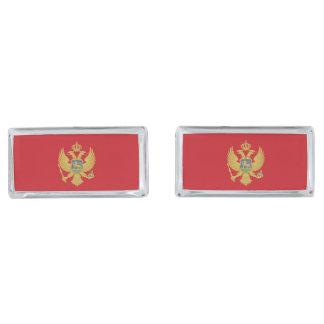 Montenegro flag silver finish cufflinks