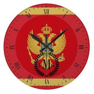 Montenegro flag wallclocks