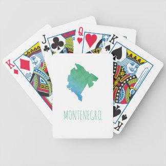 Montenegro Map Bicycle Playing Cards