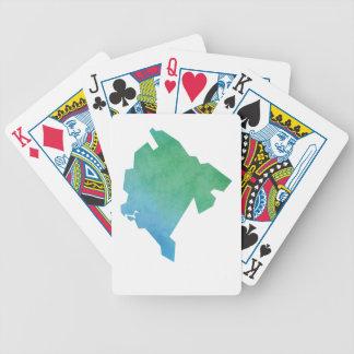 Montenegro Map Poker Deck