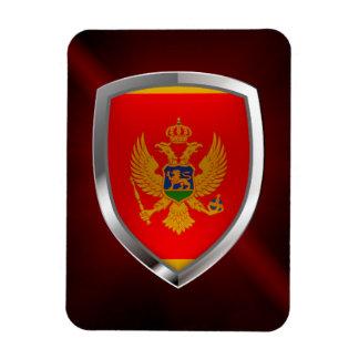 Montenegro Metallic Emblem Rectangular Photo Magnet